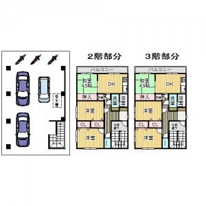 2階3階桜木町収益マンション 図面