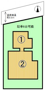 太秦緑が丘区割り図